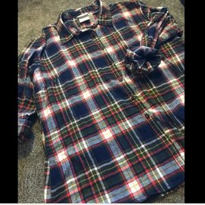 Dickies Long Sleeve Flannel Button Up